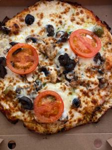 La pizza Margarita du restaurant pizzeria grill le moulin à cherbourg
